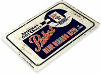 Pabst Beer Can Choice Logo Retro Vintage Wall Decor Bar Man Cave Metal Tin Sign