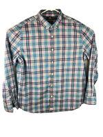 Mens VINEYARD VINES Blue Pink Plaid Long Sleeve Murray Shirt Slim Fit XL