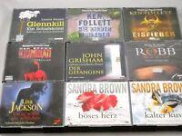 49 CDs - 9 x amerikanische Thriller Hörbücher im Paket Hörbuch Bücher zum Hören