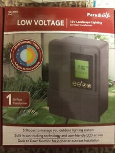 Sterno Home GL33050 Paradise 50W 12V Low Voltage Plug-In Transformer Timer NEW