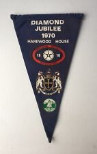 Vintage 1970 Camping Club Great Britain Pennant Flag Yorkshire Diamond Jubilee