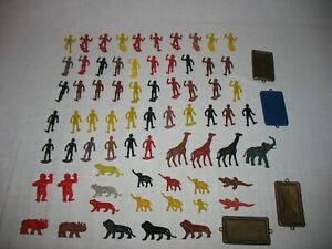 1960s MPC Multiple Products Corp. 73 Plastic Jungle Set Natives, Animals & Acc
