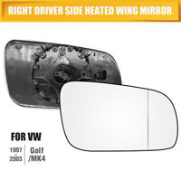 New Heated Convex Right Side Wing Door Mirror Glass Fit to VW Golf MK4 96-04 AU