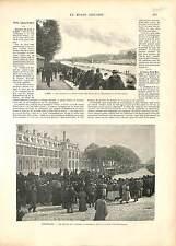 CONCOURS PECHE FISHING SEINE / VERSAILLES COURSE VOITURE PARIS-MARSEILLE 1896