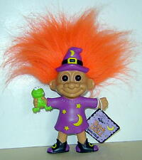 """Russ 5"""" Troll Doll Trick Or Troll Wizard With Frog Bendable Very Rare With Tag"""