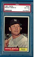 1961 Topps #579 MICKEY MANTLE PSA Graded 4 (VG-EX)