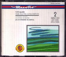 Jean-P RAMPAL VIVALDI 19 Flute Concerto SCIMONE CBS 2CD Flötenkonzerte Claudio