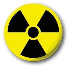 "Radioactive Symbol - 25mm 1"" Button Badge - Radiation Hazard Logo"