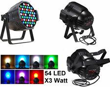 Luce LED strobo 54 LED,lampada disco discoteca DJ,faro PAR, DMX 512 54x 3W 3 W