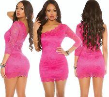 KOUCLA Mini Dress One Shoulder Lace Dress Lace Dress Evening Dress Party Dress