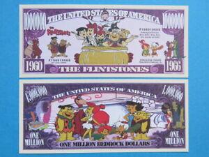 The FLINTSTONES 1960-1966 Cartoon ~ ~ One Million BEDROCK Dollar Bill