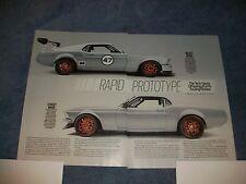 "1969 Mustang SportsRoof Fastback Race Car Article ""Rapid Prototype"""