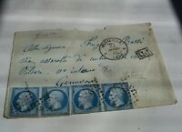 Antique 1860s-1890s EMPIRE FRANCE 20 c POSTES Post Stamps with envelope