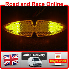Motorcycle Rear Light With Built In Indicators 12v LED Chrome Stop Tail Light