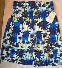 Boys' TOMMY BAHAMA®  Blue/white Swim Trunks Shorts, UPF 50.  XL NWT