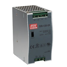 """MEAN WELL DR-120-24 AC to DC DIN-Rail Power Supply 24V 5 Amp 120W 1.5"""""""