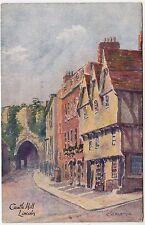 LINCOLN CASTLE HILL - C W Martyn -  by J W Ruddock - c1900s era postcard