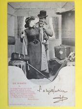 cpa 1900 Phot. BERGERET & Cie NANCY En Wagon à Mme Jules VIEUXGUÉ d' Orléans