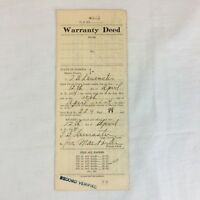 Real Estate Property Warranty Deed Marion County Florida 1934 Pre WWII Antique