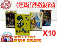 10X NINTENDO FAMICOM LARGE CIB GAME - CLEAR PLASTIC PROTECTIVE BOX PROTECTORS