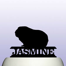 Personalised Acrylic Pet Guinea Pig Birthday Cake Topper Decoration