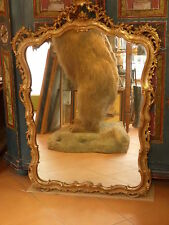 Barocke antike Spiegel aus Holz