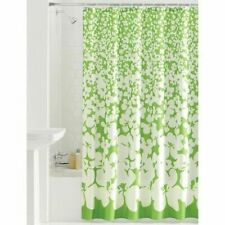 Mainstays Floral Ditty Green & White Fabric Shower Curtain