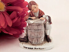 Boy and Dog VTG Figurine Norman Rockwell Love Letter 1920 Saturday Evening Post
