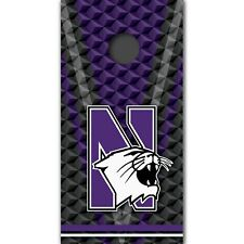 Northwestern Wildcats Cornhole Boards Wrap University Decal Custom Vinyl MR399