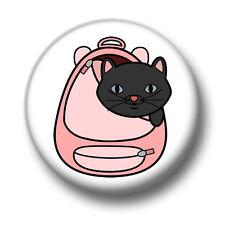 Cat In A Bag 1 Inch / 25mm Pin Button Badge Cute Manga Anime Cartoon Kawaii Fun