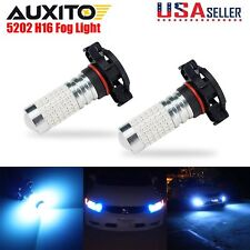 AUXITO 2x 5202 LED FOG Light DRL Projector Blue Bulb 144-SMD 5201 PS24W lamp