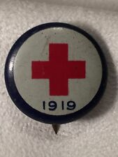 1 Antique American Red Cross Pin 1919 Vintage WW I Collectible Pin Back