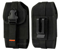 REIKO Vertical Heavy Duty Rugged Belt Clip Loops Case Pouch for Samsung Phones