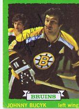 Johnny Bucyk 1973 Topps Autograph #26 Bruins