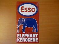 PB33F PLAQUES PUB tolée age d'or de l'Automobile n°51 15*28cm : ESSO éléphant