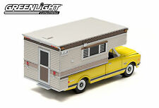 2014  GreenLight 1:64 *YELLOW* 1970 Chevy C10 Cheyenne Pickup w/CAMPER *NIB*