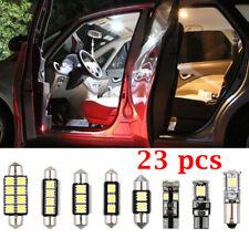 23x LED White Car Inside Light Dome Trunk Mirror License Plate Lamp Bulbs DC 12V
