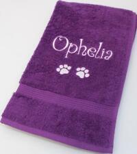 Luxury Personalised Towel | Dog Towel | Cat, Puppy, Kitten, Medium or Large Size