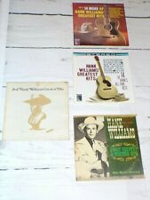 Hank Williams Sr 33 RPM Record Lot of 4 Albums 24 Greatest Hits Vtg Music