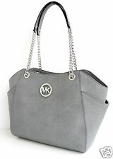 Michael Kors Tasche/Bag JET SET TRAVEL LG CHAIN SHLDR  HOBO SAFFIANO P.GREY NEU!