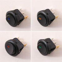4Pcs Boot Runde LED Schalter 12V Car Auto Boat Round Rocker ON/OFF Toggle Switch
