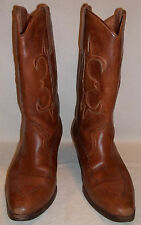 """Vintage Clemente """"Wichita"""" Brown Leather Western Boot, Mens 8.5 D"""