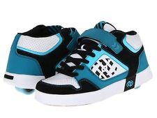 New Heelys Kid's Stripes Teal/Black/Aqua/White Blue Shoes US Sz 1 Uk 13 Eur 32