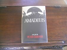 AMADEUS by Peter Shaffer, SIGNED 3x, 1st ed/1st printing US (1981, Hardcover)