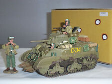 King and Country DD67 US Army M5a1 Light Military Tank Toy Soldier Figure Set