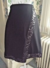 NWT New York & Co Sequin Trimmed Wrap Black Skirt By Eva Size 2 Ret $56.95 NY&Co