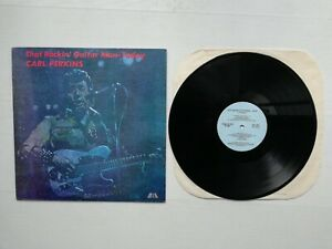 LP CARL PERKINS Globe AG 9016 Stéréo USA THAT ROCKIN GUITAR MAN TO DAY 1981 RARE
