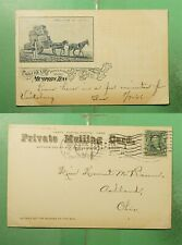 1908 MEMPHIS TN DRAYLORD OF COTTON POSTCARD TO ASHLAND OH