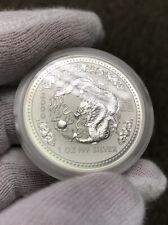2000 Australia Lunar Dragon 1 oz Silver Coin BU