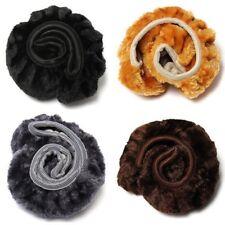 UK  Warm Plush Steering Wheel Cover Winter Furry Fluffy Soft Plush Car Wheel New